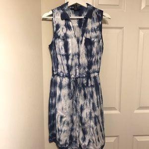 INC Tie Dye Button Down Sleeveless Dress